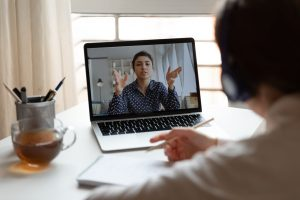 Video conference between two people