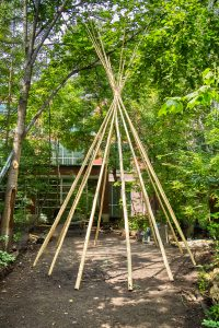 First Nations House Tipi pole structure.
